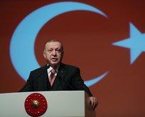 Başkan Erdoğan'ın katıldığı törende dikkat çeken o an!
