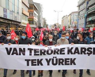 Van Gara şehitleri için yürüdü: Teröre karşı tek yürek