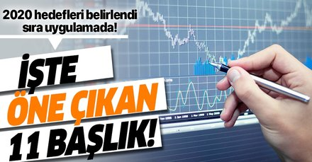 Türkiye'nin 2020 yılı yol haritasında öne çıkan 11 başlık!
