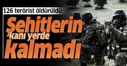 Terör örgütü PKK'ya ağır darbe! Bir ayda 126 terörist öldürüldü
