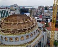 Taksim Camii inşaatı havadan görüntülendi
