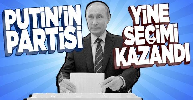 Rusya'da seçimlerden Putin'in partisi birinci çıktı