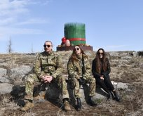 Aliyev ailesinden Nevruz pozları