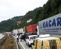 LPG yüklü tanker faciası: Sahil yolu trafiğe kapatıldı