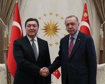 Erdoğan, Kazakistan Başbakanı Mamin'i kabul etti