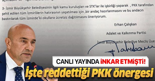 İşte Soyer'in reddettiği PKK önergesi