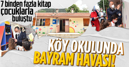 Bursa'da Başkan Aktaş öğrencilerle beraber okulu boyadı