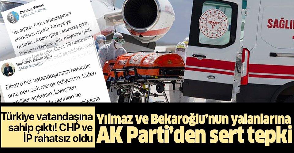 CHP ve İYİ Parti, Emrullah Gülüşken'in İsveç'ten ambulans uçakla Türkiye'ye getirilmesinden rahatsız oldu!