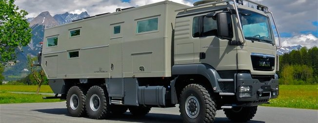 Dışı zırhlı kamyon içi rezidans