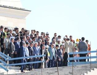 Başkan Erdoğan Çamlıca Camiini inceledi
