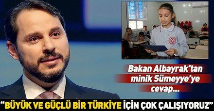 Bakan Albayrak ve Gül'ün tebrik kartları öğrencileri sevindirdi
