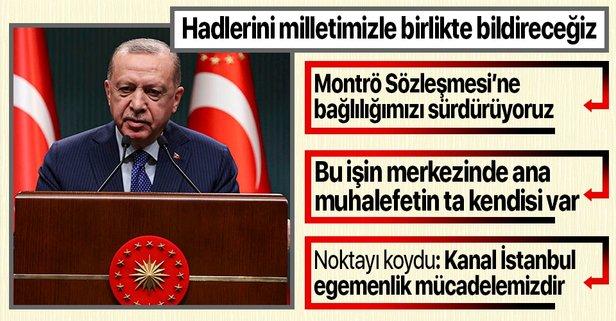 Başkan Erdoğan'dan 104 emekli amirale sert tepki