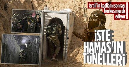 İşte Hamas tünelleri