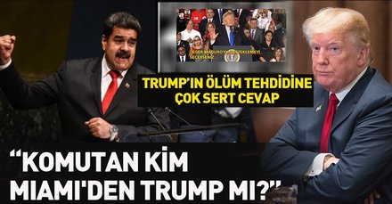 Trump Venezuela ordusunu tehdit etti! Maduro'dan şoke eden yanıt geldi
