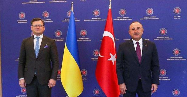Bakan Çavuşoğlu, Kuleba ile bir araya geldi
