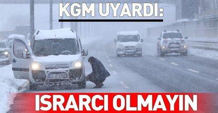 Karayolları Genel Müdürlüğü'nden karlı ve buzlu yolları kullanan vatandaşlara uyarı!