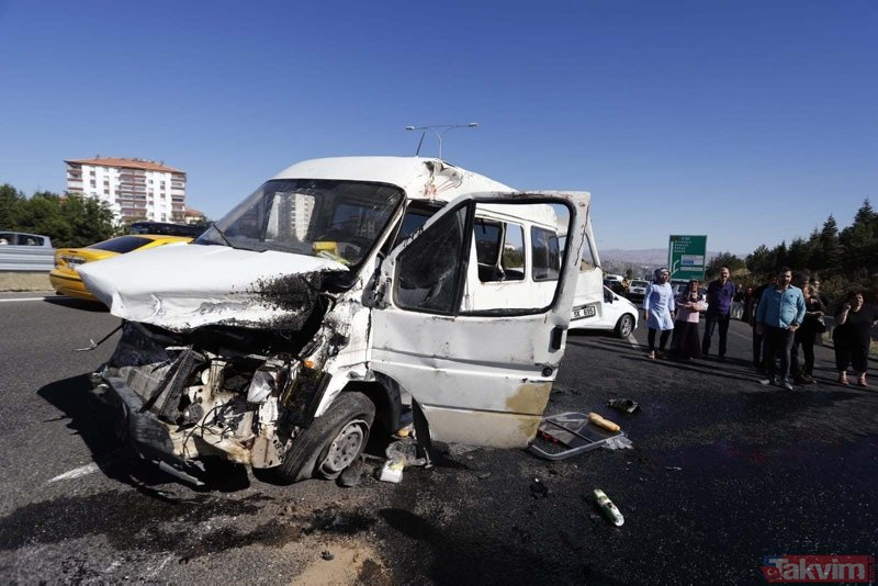 Ankara'da feci kaza! Çok sayıda yaralı var