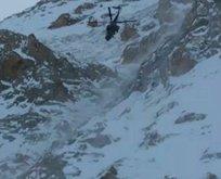 Niğde'de çığ altında kalan bir dağcı kurtarıldı