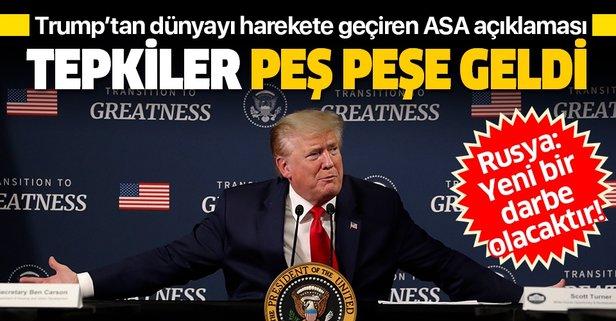 Trump'tan dünyayı harekete geçiren açıklama