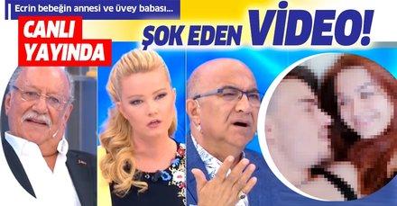 Müge Anlı canlı yayınında Ecrin bebeğin annesi Sevcan ve üvey babası Deniz'in yatak görüntüsü olay oldu!