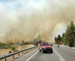 Son dakika: Antalya'da orman yangını! Antalya-Konya karayolu ulaşıma kapatıldı
