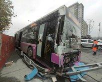 İstanbul'da zincirleme kaza! İETT otobüsü, hafriyat kamyonu ve...