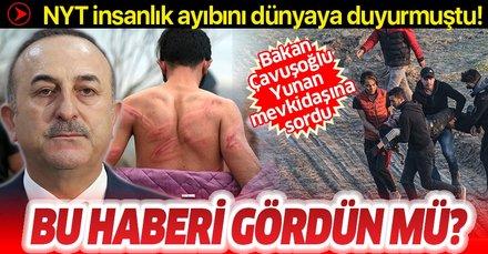 Bakan Çavuşoğlu'ndan Yunan mevkidaşına mülteci sorusu: Bu haberi gördün mü?