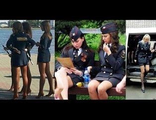 Rusyanın kadın polisleri sosyal medyayı sallıyor