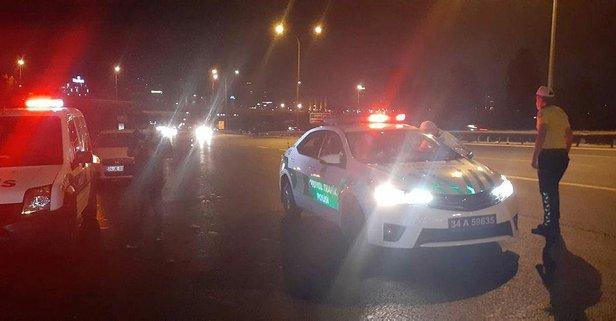 TEM'de korkunç kaza: 1 ölü 1 yaralı