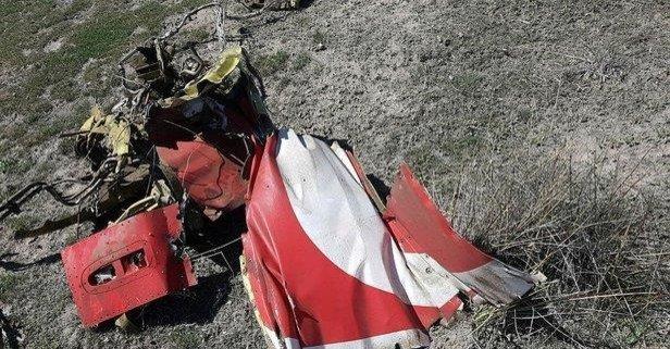 Askeri uçağın düşme anına ait görüntü ortaya çıktı