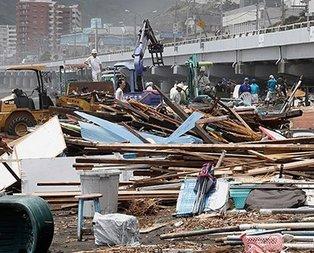 Japonya'da tayfun felaket: 74 kişi öldü
