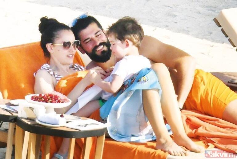 Fahriye Evcen ve Burak Özçivit denizde aşk tazeledi Fahriye düzgün fiziğiyle mest etti! Kuruluş Osman'ın yıldızı eşiyle...