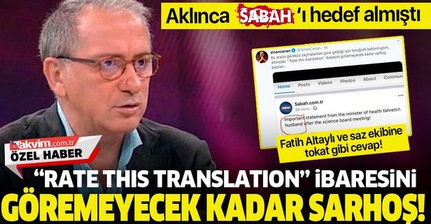 Fatih Altaylı ve saz ekibine tokat gibi cevap!