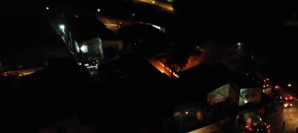 Son dakika: Tuzla'da fabrika yangını