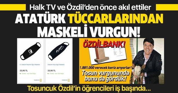 Atatürk imzalı maskeler satışa sunuldu
