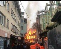 Bursada Kayhan Çarşısında yangın