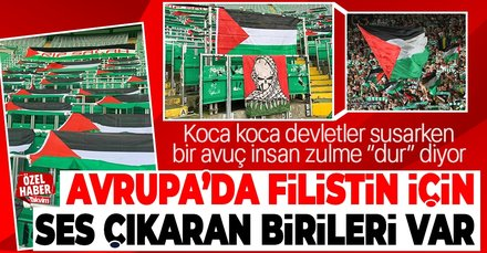 Celtic taraftarları Filistin'e destek oldu! Stadı bayraklarla donattılar