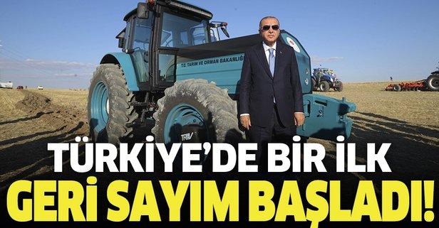 Başkan Erdoğan'ın katılımıyla görücüye çıkmıştı... Türkiye'nin ilk yerli elektrikli traktörünün seri üretimi için geri sayım