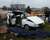 Kütahya'da feci kaza! Önce ağaca sonra direğe çarptı