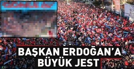 Başkan Erdoğan'a Balıkesir'de muhteşem karşılama