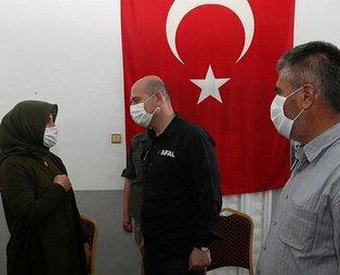 Son dakika: İçişleri Bakanı Soylu, Hatay'da şehit ailesine taziye ziyaretinde bulundu