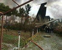 İran'da kargo uçağı düştü! İşte ilk görüntüler...