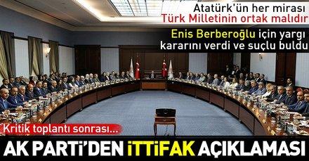 Son dakika: AK Parti MKYK sonrası açıklamalar