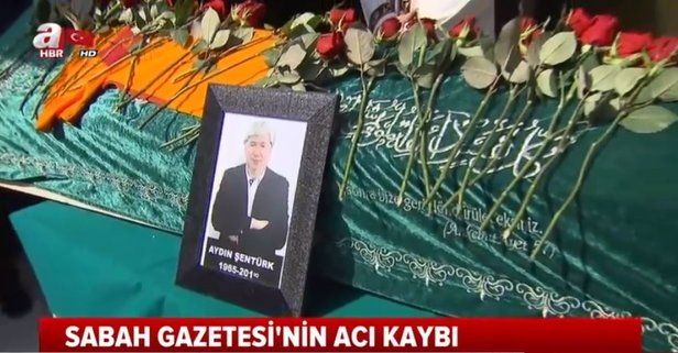 Gazeteci Aydın Şentürk'e veda