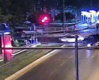 Kırmızı ışık ihlali yapan otomobil dehşet seçti