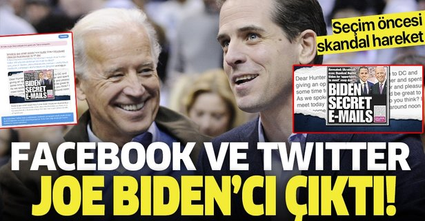 Facebook ve Twitter Joe Biden'cı çıktı!