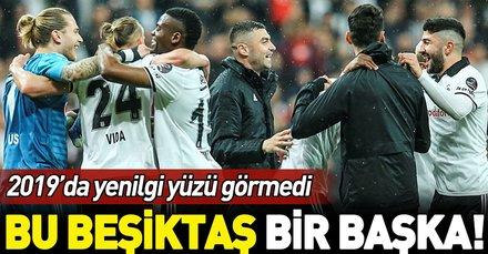 Beşiktaş, 2019'da Süper Lig'de yenilgi yüzü görmedi