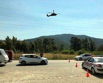 Muğla'da helikopterli trafik denetimi
