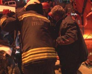 Başkent'te seyir halindeki araç alev aldı
