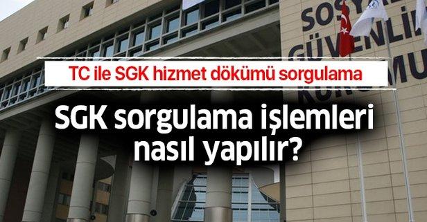 SGK sorgulama işlemleri nasıl yapılır?